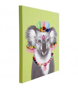Cuadro Koala Pom Pom 70x70 cm