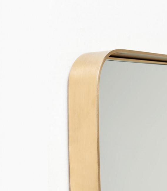 Espejo Curve Rectangular Brass 120x80cm