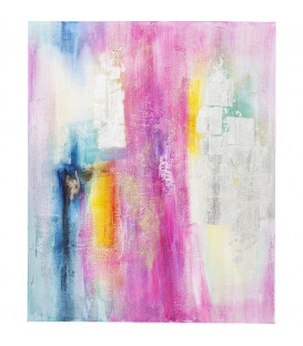 Cuadro Abstract Pink-Silver 150x120cm