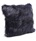 Cojín Ontario Fur Dark azul 45x45cm