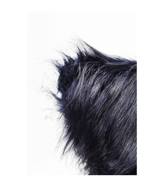 Cojines Ontario Fur Dark azul 45x45cm