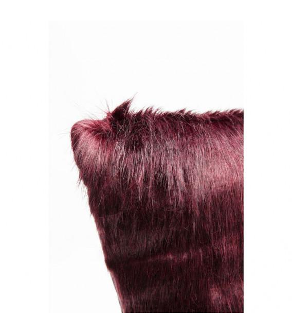 Cojines Ontario Fur Dark rojo 60x60