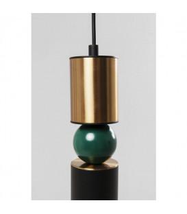 Lámpara Miracle Tube negro-Brass LED