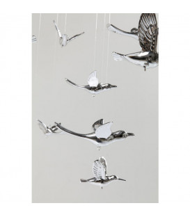 Lámpara Flying Birds cromo