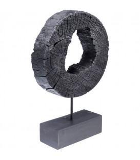 Objeto decorativo Ring Of Fire negro 53cm