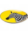 Plato decorativo  Zebra amarillo Ø30cm