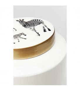 Vasija decorativa Zebra White 33cm