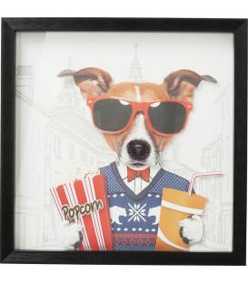 Cuadro Art Cinema Dog 50x50cm