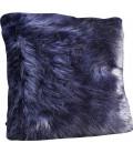 Cojín Ontario Fur negro 60x60
