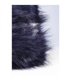 Cojín Ontario Fur negro 45x45cm