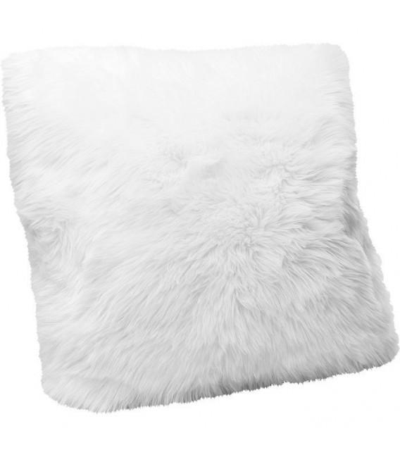 Cojín Fur blanco  60x60cm