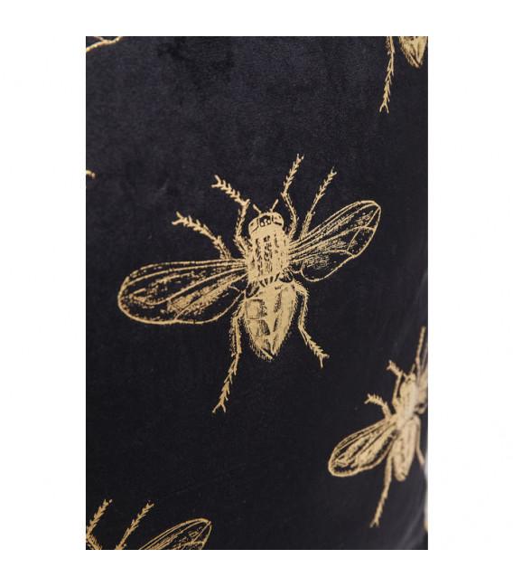 Cojín Bee negro 45x45cm
