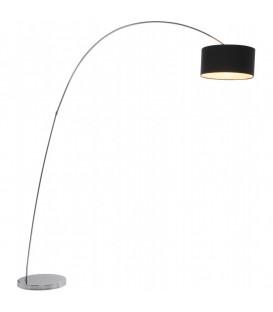 Lámpara de pie Gooseneck negro