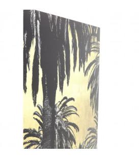 Cuadros cristal Metallic Palms 120x180cm
