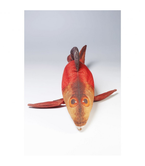 Cojín con forma de pez rojo 44x95cm