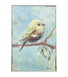 Cuadro Bird Blue Back 60x40cm