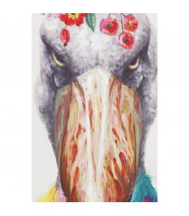 Cuadro Flowers Bird 102x72cm