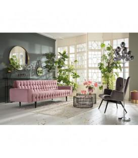 Sofá Milchbar Velvet rosa 3p.