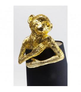Lámpara mesa Animal Monkey oro negro