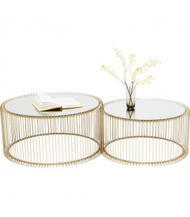 Mesa de centro Wire Brass (2/Set)