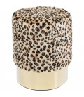 Taburete Cherry Leopardo Brass
