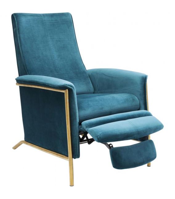 Butaca relax Lazy Velvet azul