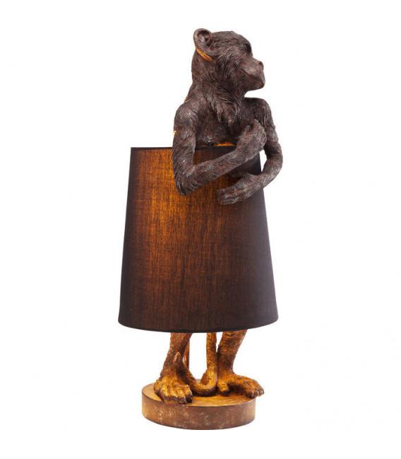 Lámpara mesa Animal Monkey marrón