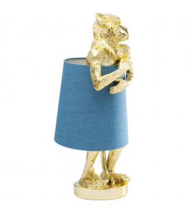 Lámpara mesa Animal Monkey oro azul