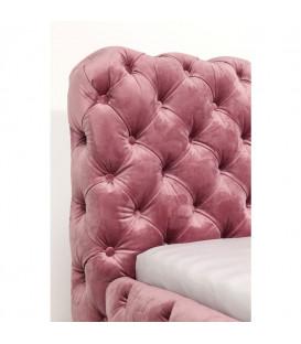 Cama Desire Velvet rosa 160x200cm