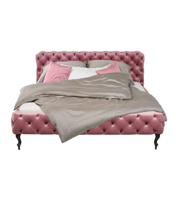 Cama Desire Velvet rosa 180x200cm