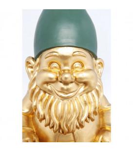 Figura decorativa Gnomo sentado dorado 42cm