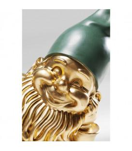 Figura decorativa Gnomo tumbado dorado 31cm