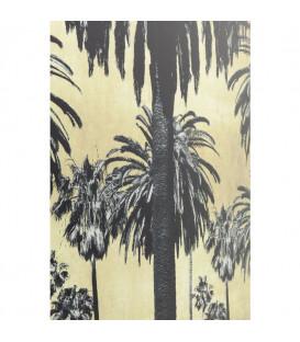 Cuadro cristal Metallic Palms 120x80cm