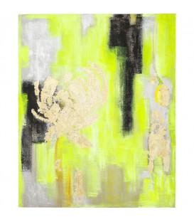Cuadro Abstract Amarillo-Dorado 150x120cm