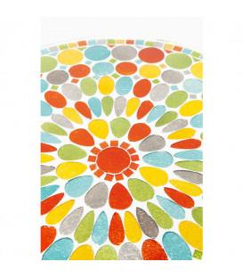 Mesa auxiliar Clack Mosaic Colore Ø36cm
