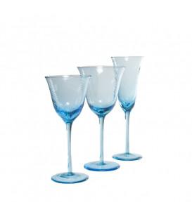 Copa de vino blanco Capri azul claro