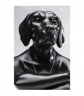 Figura decorativa Gangster Dog negro