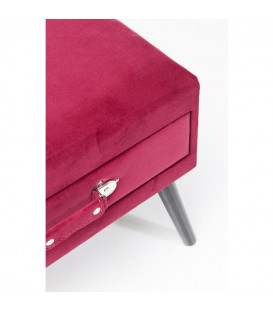 Taburete Drawer rojo