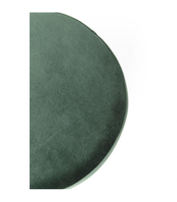 Taburete Cherry verde oscuro latón 35cm