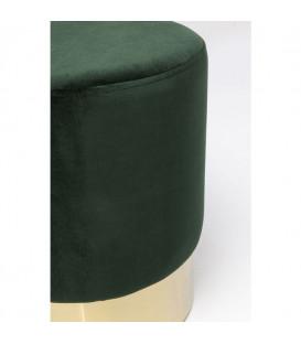 Taburete Cherry verde oscuro brass 35cm