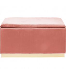 Banco Cherry Storage rosa latón 120cm