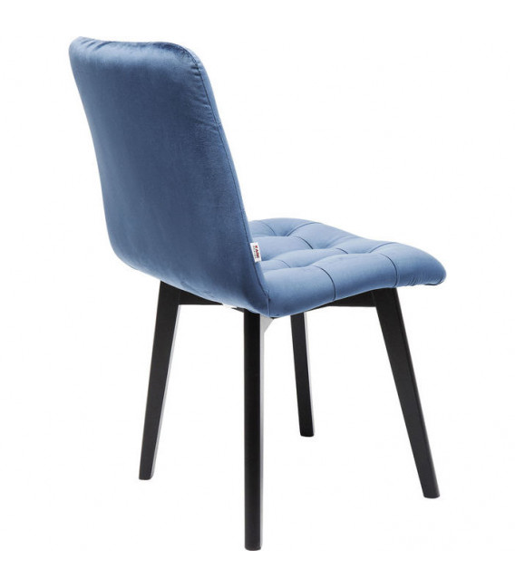 Silla Black Moritz Velvet azul