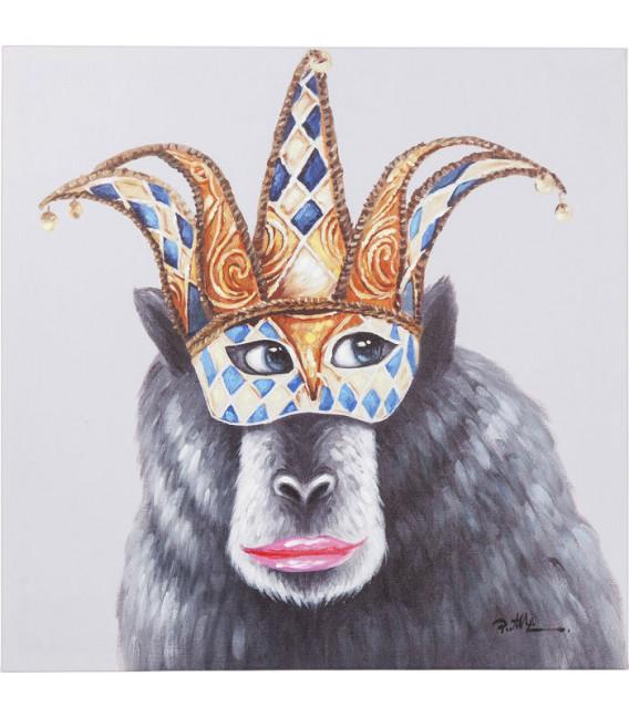 Cuadro Mono de Carnaval 70x70cm