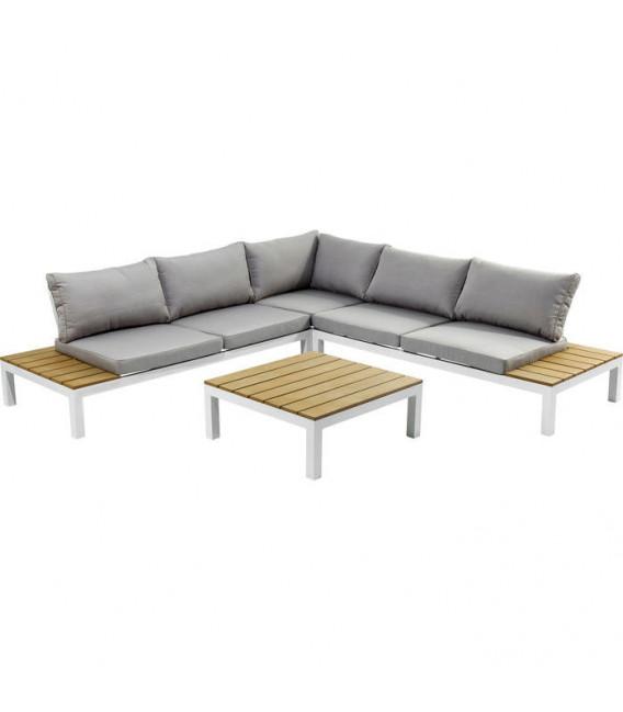 Set Sofá Exterior Holiday blanco