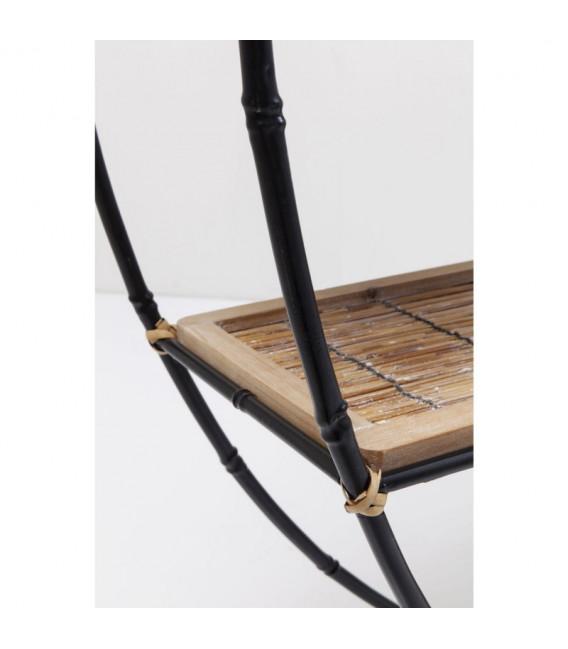 Estantería Jungle Bamboo negro 150cm