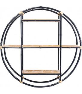 Estantería pared Jungle Bamboo negro Ø60cm