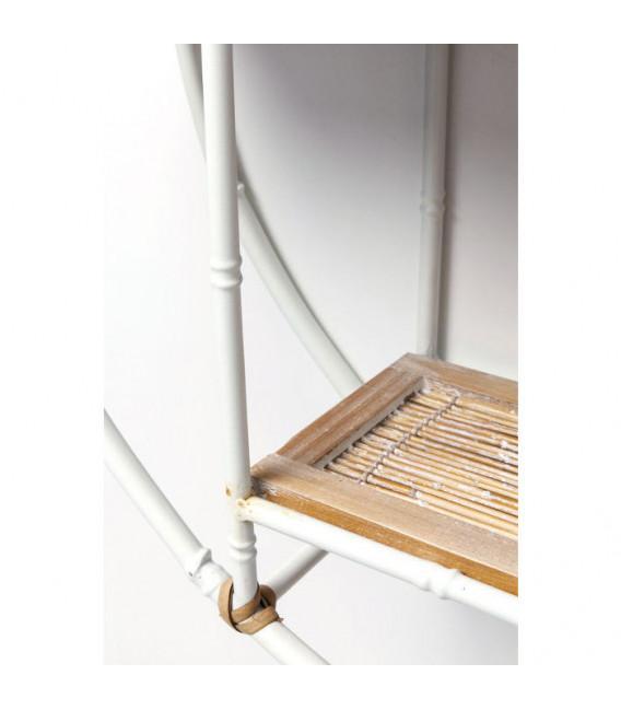 Estantería pared Jungle Bambo blanco Ø60cm