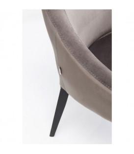 Silla Mode Velvet gris/negro