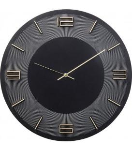 Reloj pared Leonardo negro/oro