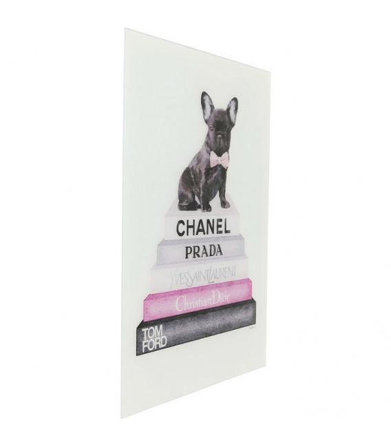 Cuadro cristal Fashion Dog 80x60cm